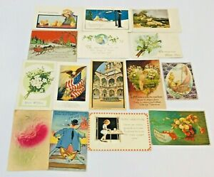 Vintage-Postcard-Lot-Holidays-Christmas-Easter-Valentines-Birthday-Early-1900s