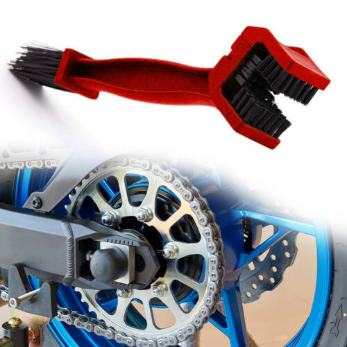 Motorcycle Bicycle Motocross Chain Wheel Cleaning Brush Motorbike Cleaner Tool