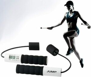 Pro Fit Cardio Jump Rope Ropeless System LCD Display Timer Fat Burning Calories