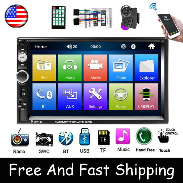 """7/"""" Car Stereo Radio 2 DIN Dual USB Bluetooth MP5 Player Touch Screen Remote 7032"""