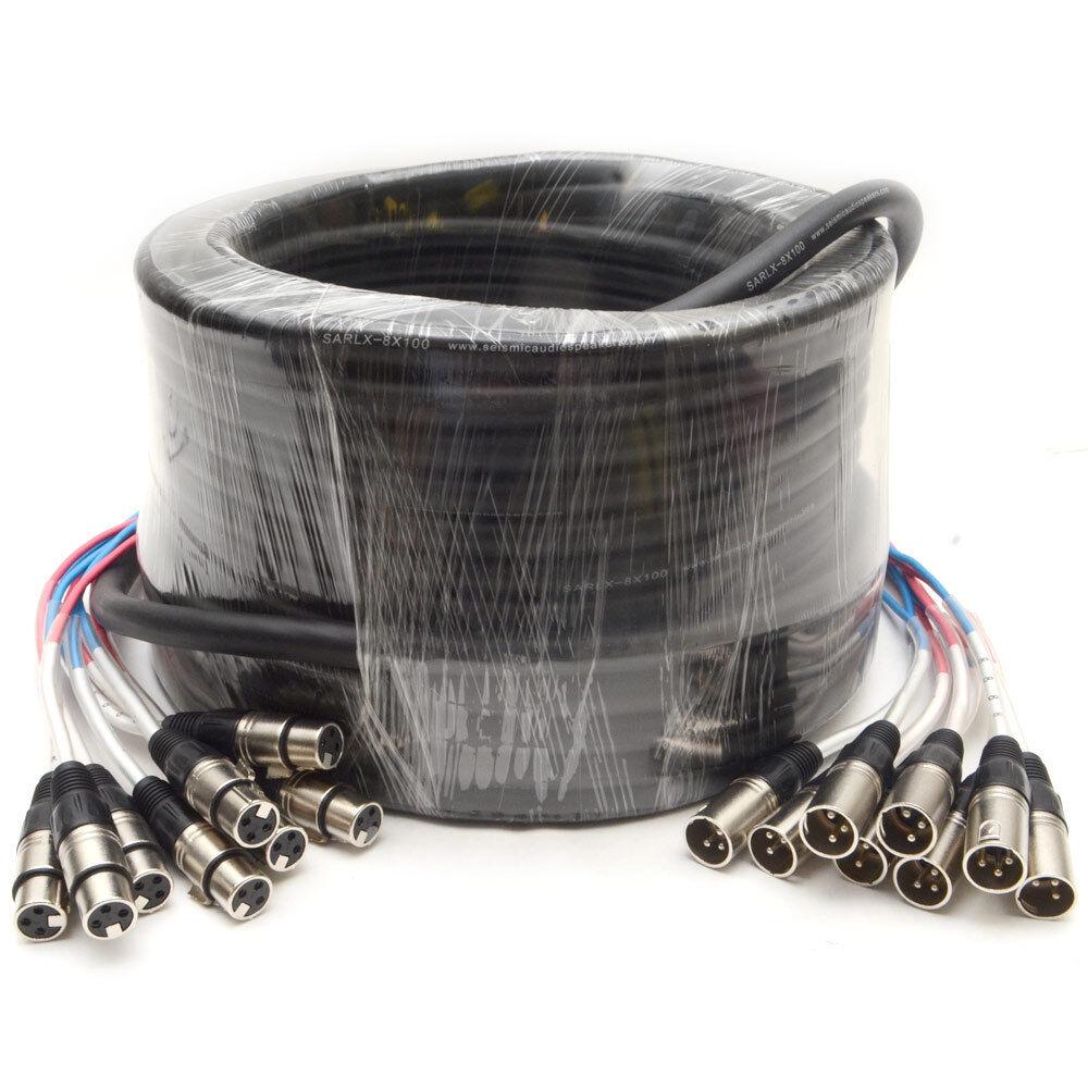 Audio Xlr Pro Fantail Fantail Fantail Serpiente Cable - 2, 4, 8, 12, 16, 24 canales-de 5' a 100'  Ahorre 60% de descuento y envío rápido a todo el mundo.