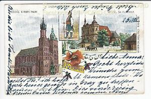 POLEN-KLEINPOLEN-LITHO-KRAKAU-KRAKOW-1901-Q