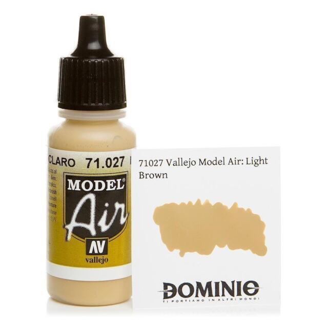 Vallejo Light Brown Paint 17ml Bottle Model Air VAL 71027