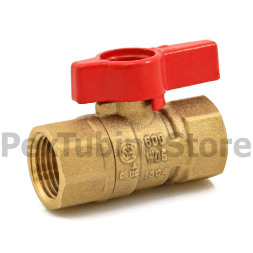 "CSA 10 Shut-Off Valve Natural Gas // Propane 1//2/"" IPS Brass Gas Ball Valves"
