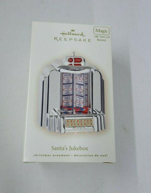 Hallmark Keepsake Ornament 2007 Santa's Jukebox Light/Sound/Music WORKS! Songs