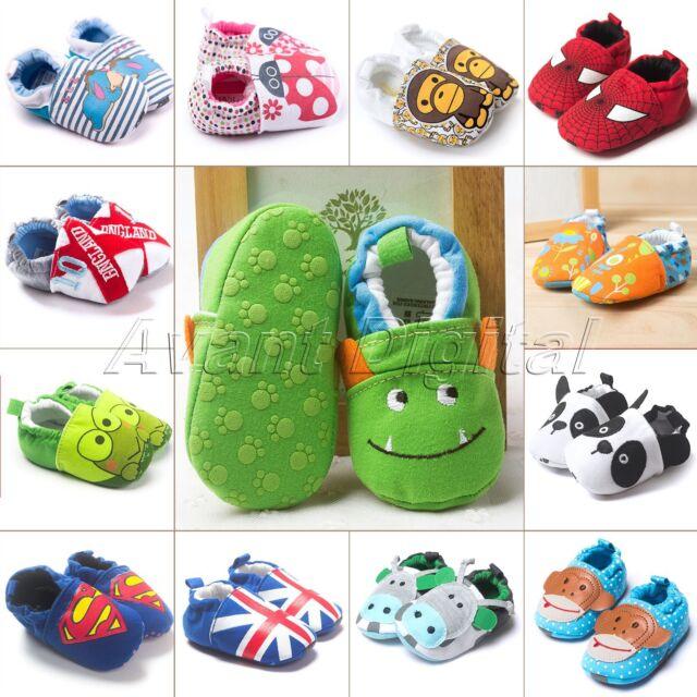 Baby Girl Boy Crib Soft Sole Shoes Newborn Cotton Infant Toddler Pram Prewalker