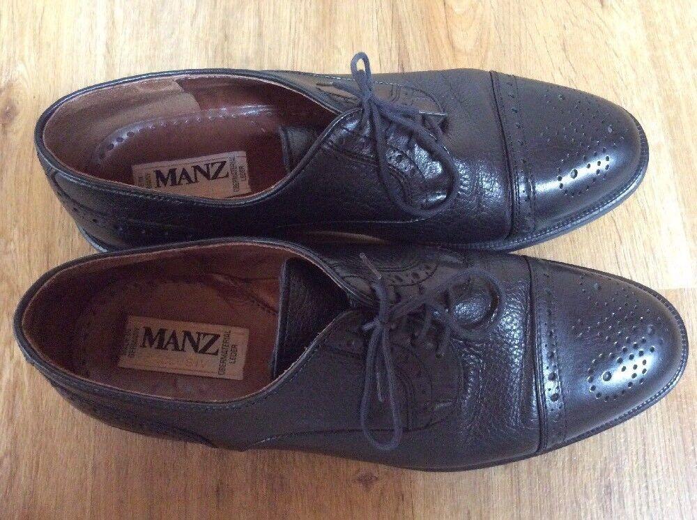 Manz Manz Manz Exklusiv Herren Business Schuh Echtleder Schwarz EUR42 68d919