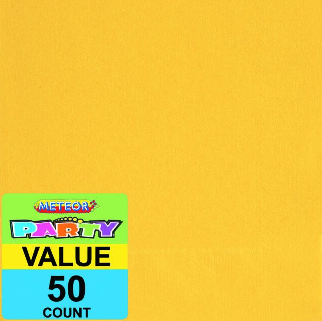 Sunflower Yellow 50 Beverage Napkins