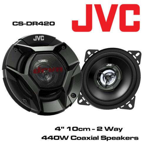 """JVC CS-DR420 4/"""" 10cm 2-Way Co-Axial coche DASH altavoces de 220 vatios de reemplazo"""