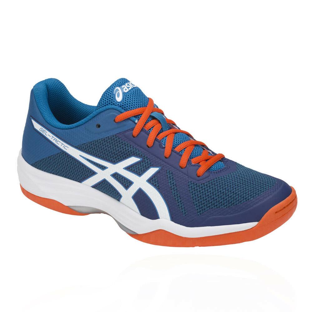 Asics Herren Gel Tactic 2 Court Schuhe Sportschuhe Turnschuhe Training Blau