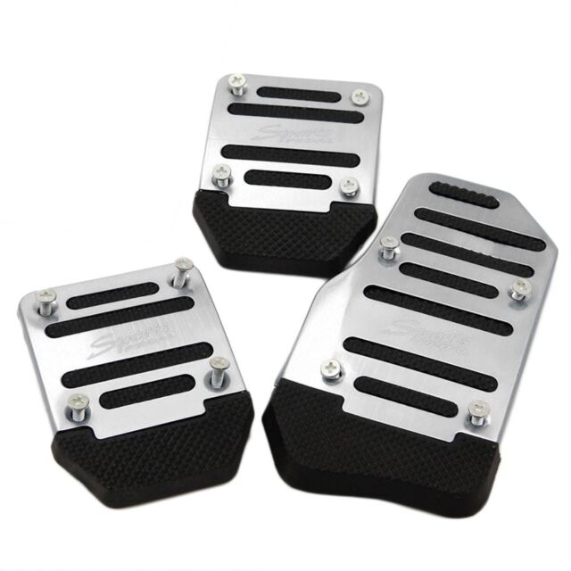 3pcs Car Vehicle Non-slip Alloy Pad Pedal Aluminium Foot Treadle Cover sliver X5