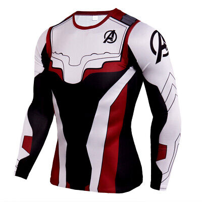 Avengers Endgame T Shirt Cosplay Superhero Quantum Realm 3d Long Sleeve T Shirts Ebay