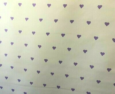 Princess Hearts /& Crowns on Lilac fabric 1 mtr 100/% Cotton Fabric Freedom FF39-3