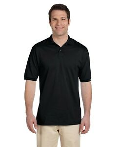 Jerzees-Polo-Shirt-Men-039-s-Short-Sleeve-5-6-oz-50-50-Jersey-with-SpotShield-437