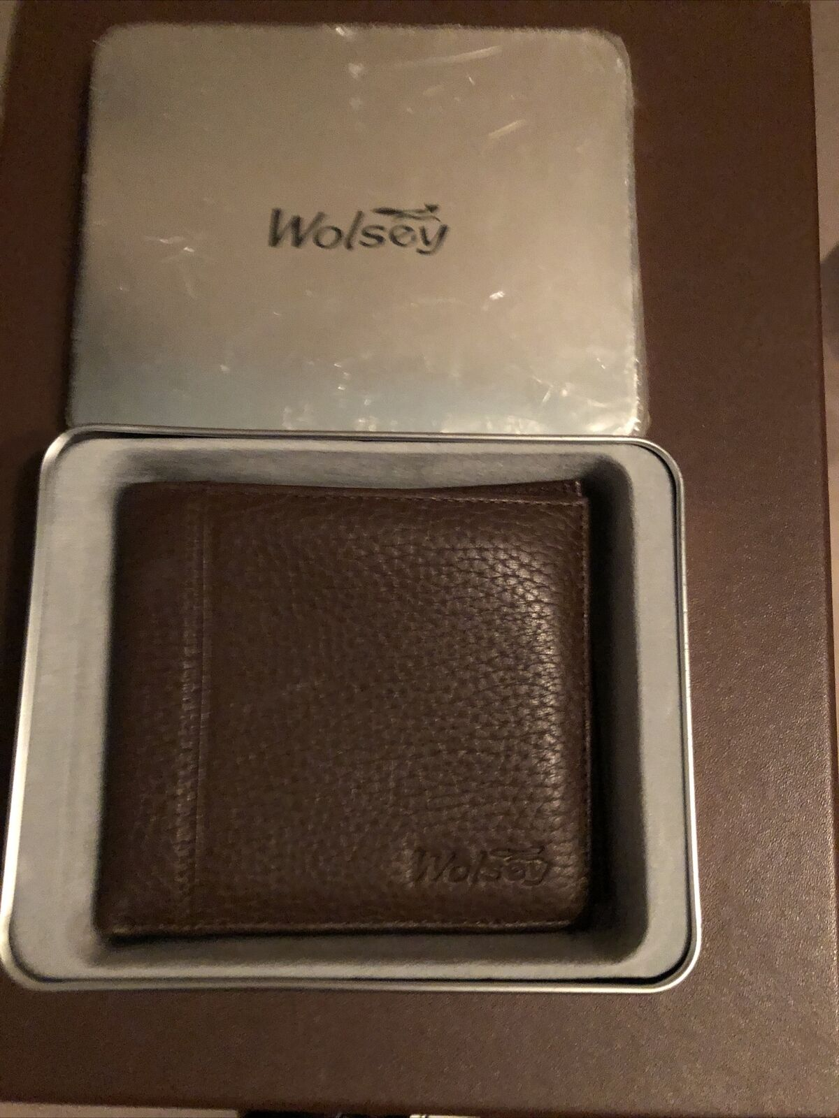 Wolsey Leather Brown Gents Gift Boxed Money Wallet New Great Gift For Him