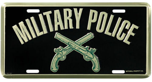 US ARMY MILITARY POLICE HIGH QUALITY METAL LICENSE PLATE MADE IN THE USA!