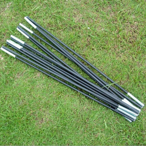 Reliable Black Tent Pole Kit 7 Sections Camping Travel ReplacementPT