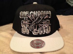 new concept 7bba6 fff37 Image is loading San-Antonio-Spurs-Hat-Snapback-Mitchell-and-Ness-