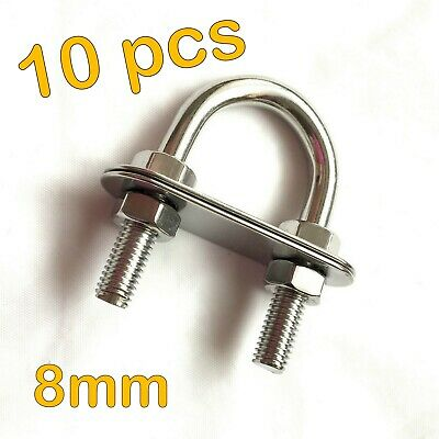 10pcs STAINLESS STEEL 5mm U BOLT BOW EYE NUTS WASHERS BOAT TOW TRAILER SS316