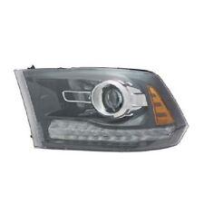 TYC 20-9392-90-1 Headlight Assy LH New 2013 2014 Ram 1500 2500 Black Projector