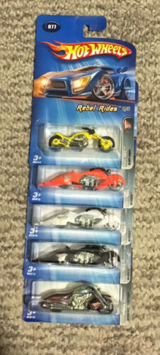 2005 WHITE HEAT RED LINES BIN 24 HOT WHEELS REBEL RIDERS TRACK ACES