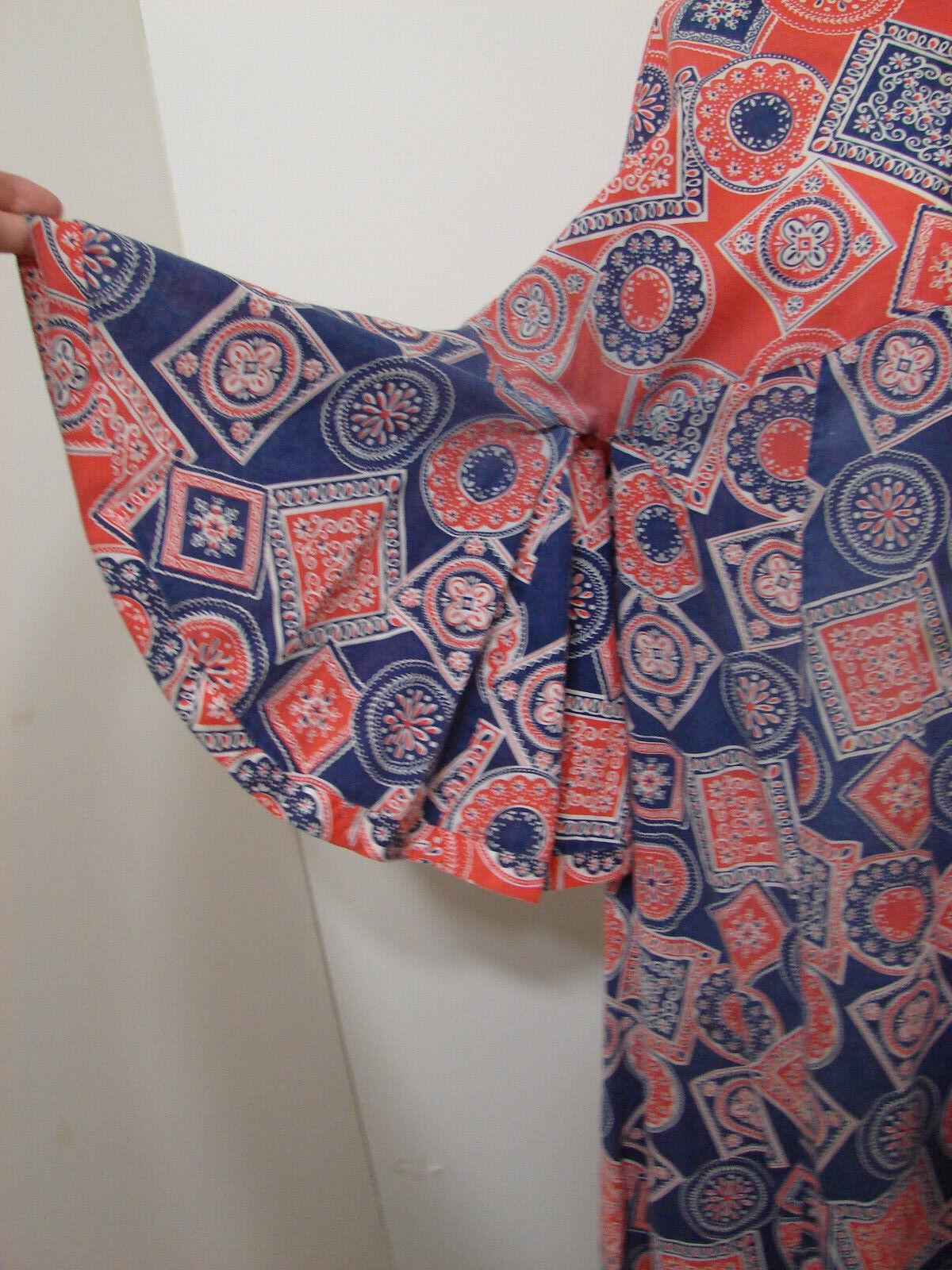PEGGY LOU Caftan Dress Vintage 1960's Groovy Patc… - image 3