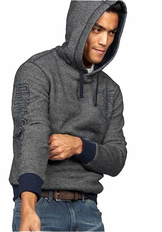 J3351 Rhode Island Herren Kapuzensweatshirt Sweatshirt Kapuze Hoodie (M, Grau)