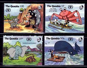 SELLOS-TEMA-DISNEY-GAMBIA-1991-1031-34-DUMBO-MINNIE-MICKEY-MOUSE-4v