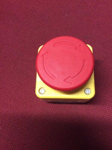 Emergency Stop Mushroom Head Button