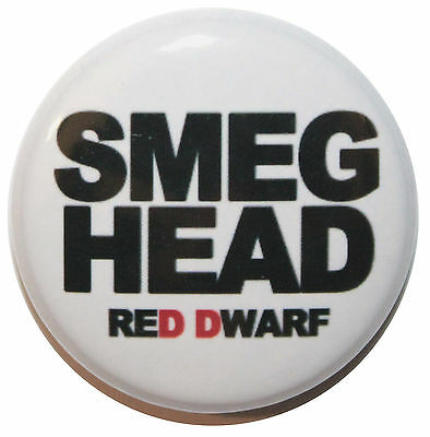 "1"" (25mm) Red Dwarf 'SMEG HEAD"" Button Badge Pin - High Quality -MADE IN UK"