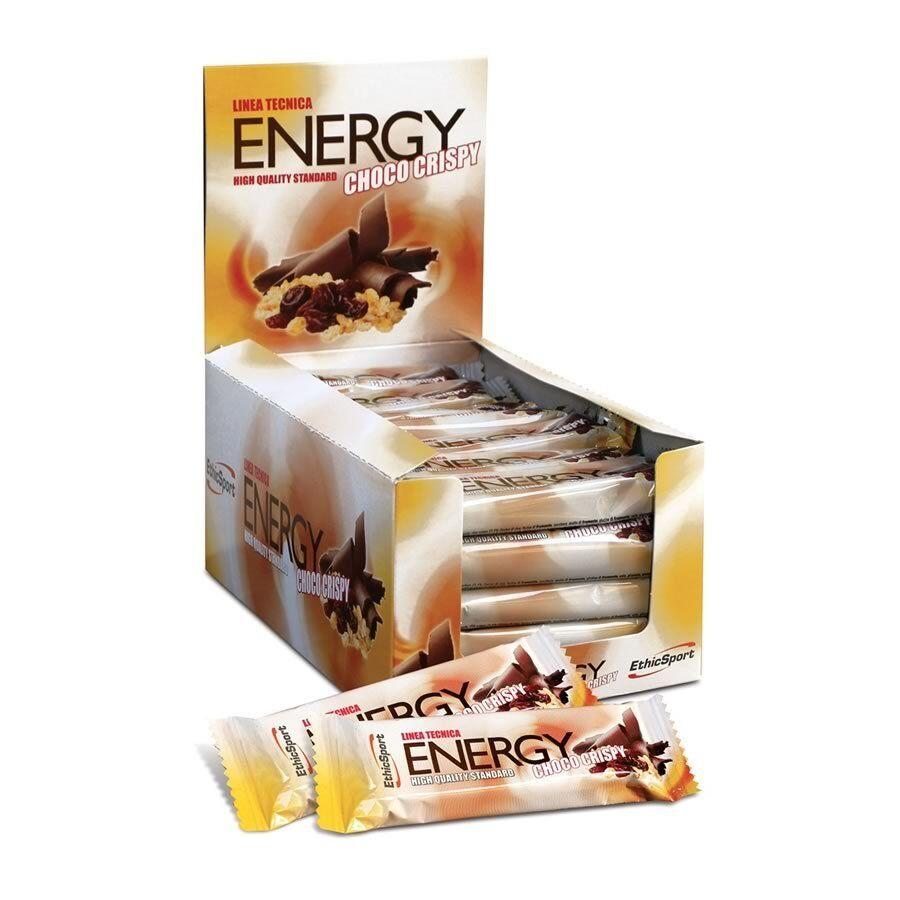 EthicSport ENERGY CHOCO CRISPY 30 barrette Cioccolato e Uvetta Ethic Sport