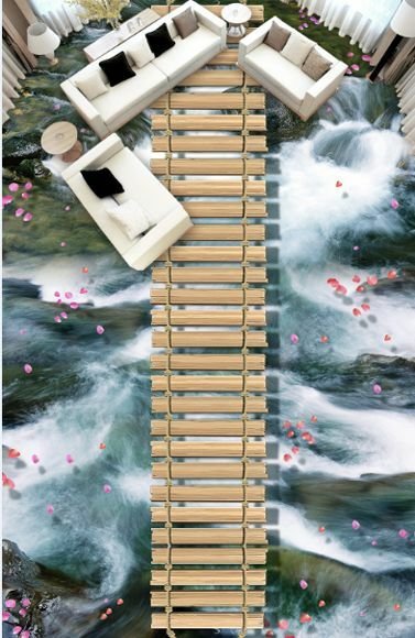 3D water stone wood 440 Floor WallPaper Murals Wall Print Decal 5D AJ WALLPAPER