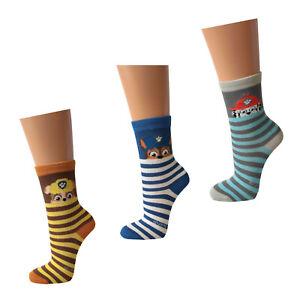 3-12-Paar-Paw-Patrol-Socken-Jungen-Kinder-Struempfe-Marshall-Rubble-Chase