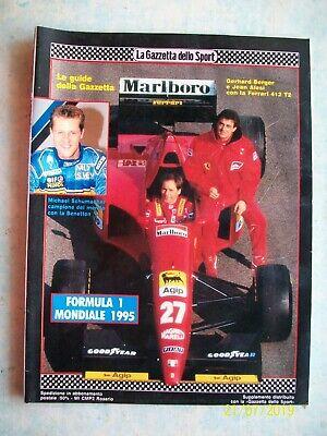 La Gazzetta Dello Sport Guide F1 Motomondiale 95 Alesi Berger Schumacher Biaggi Ebay