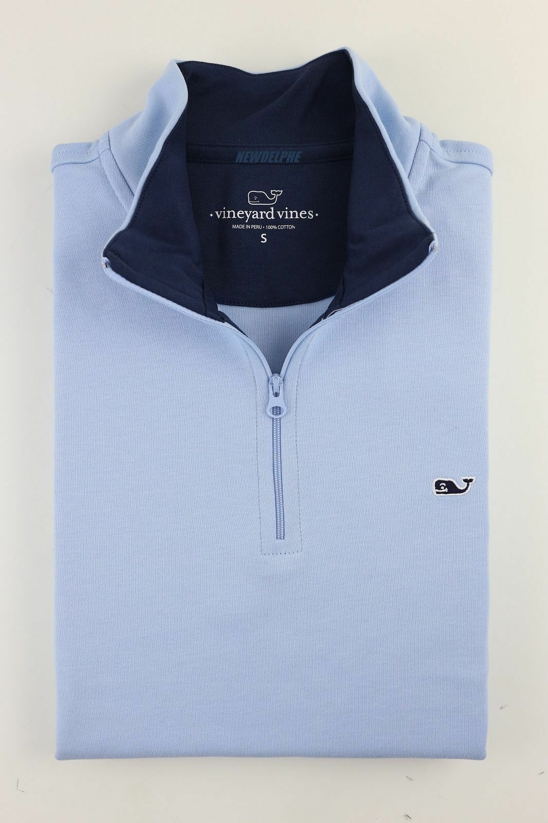 Vineyard Vines Men's Jersey 1 4 Zip Sweater Embroidered Whale Logo MSRP