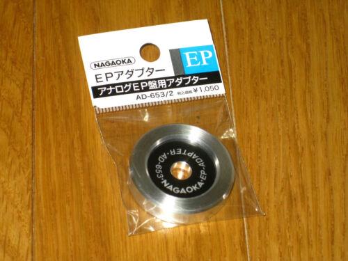 "NAGAOKA AD-653//2 New Billet Aluminum 7/"" 45 rpm record Center Spindle Adapter"