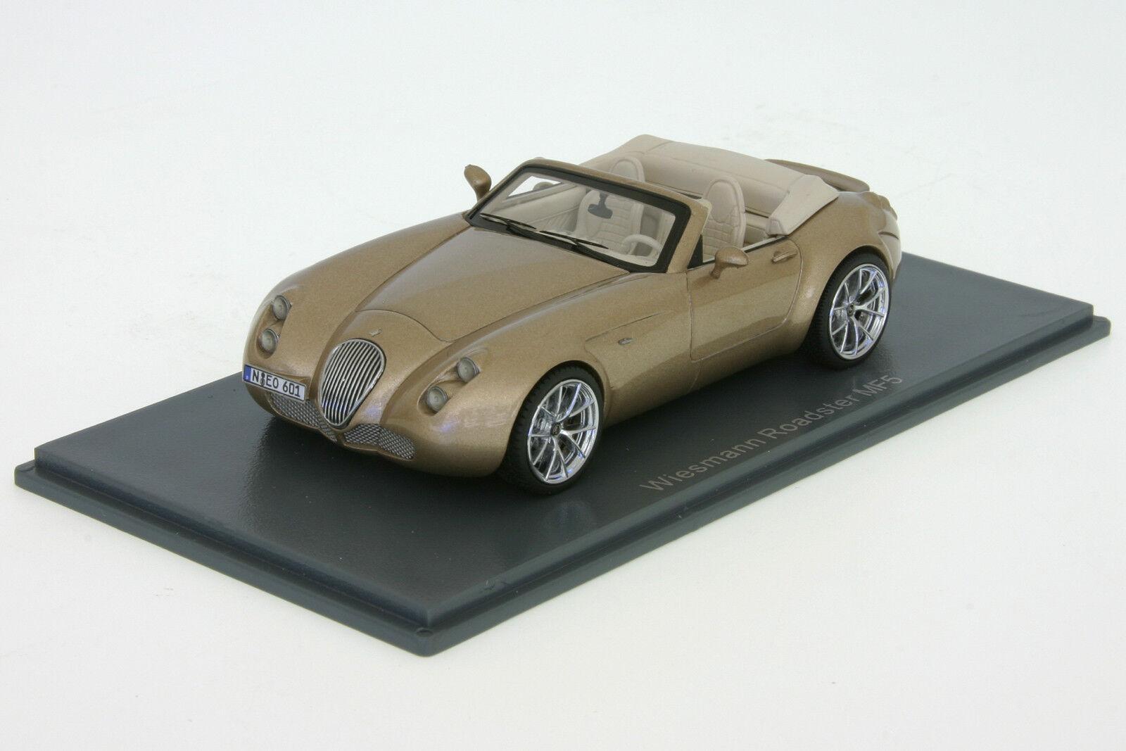 Wiesmann Roadster MF5  2010 gold metallic  1 43 Neo Scale Models 44601  NEU OVP