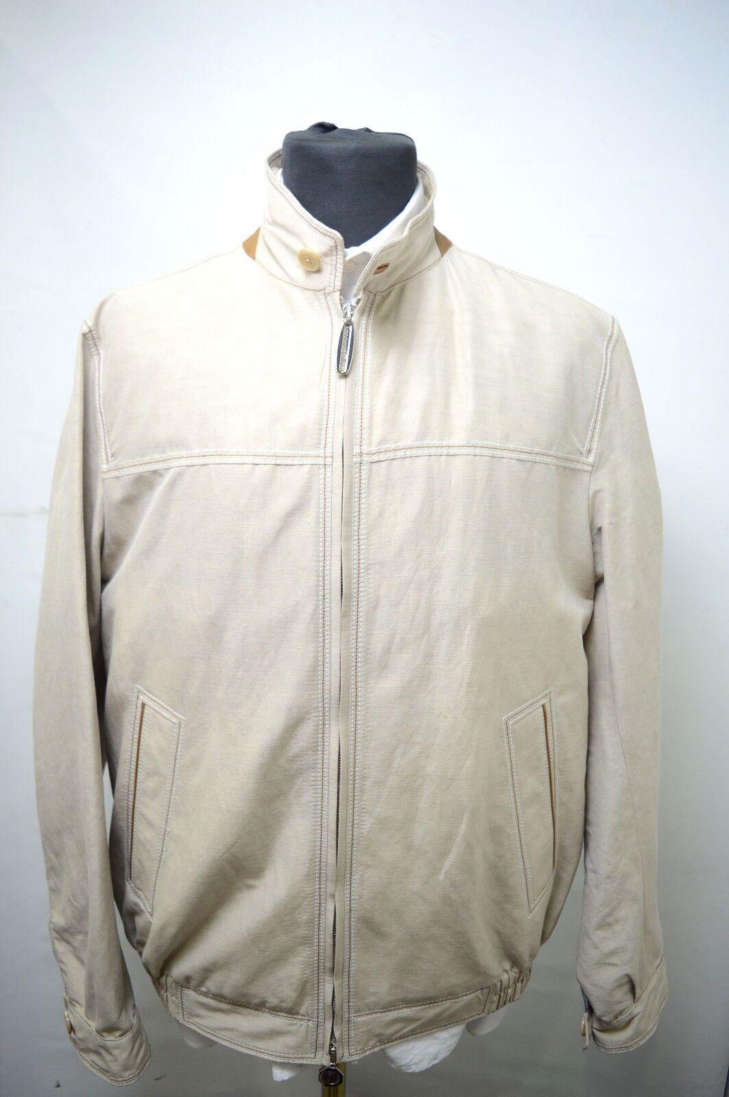 NEW 8750,00  STEFANO RICCI  Outwear Top Over Coat Leder Us M Eu 50 (G134)