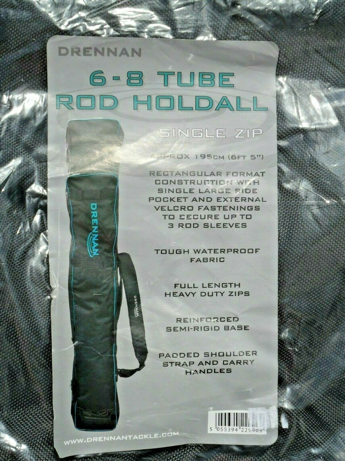 Drennan 6-8 Tube Pole Rod Holdall Single Zip