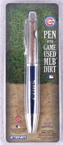 CHICAGO-CUBS-GAME-USED-DIRT-WRIGLEY-FIELD-PEN-amp-CUBS-PIN-2016-World-SERIES