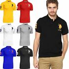 New Mens US Polo Assn Pique T-shirt Shirt Branded Top Short Sleeve 100% Cotton
