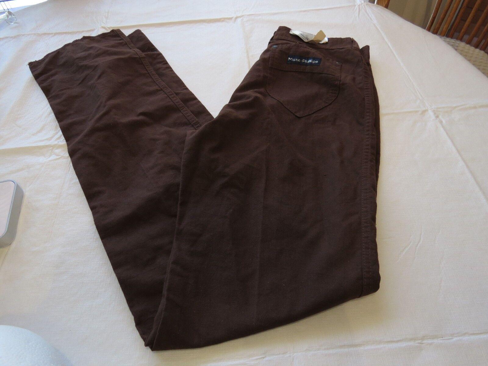 Marc Phillipe Ltd Damen Hose Nwt Vintage 11-12 Brown Vintage Nummern Jeans Damen