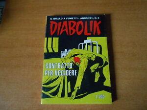 fumetto noir DIABOLIK  anno XXI nr.6-CONTRATTO PER UCCIDERE