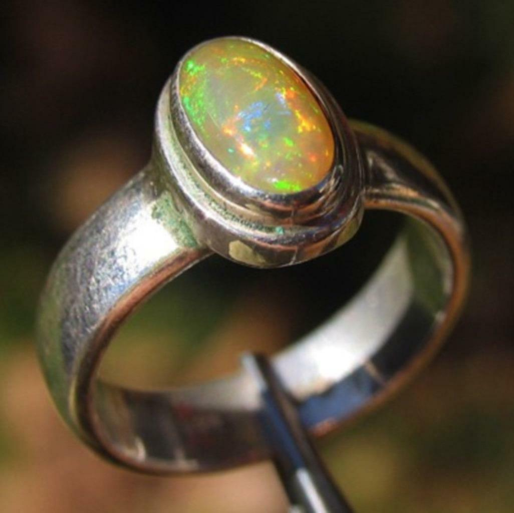 Stirling Silver Opal Ring