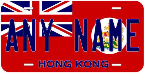 Hong Kong 1959 Red Flag Any Name Novelty Car License Plate