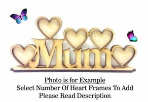 OPTIONS Mothers Day Gift PL54 NANNA Build Your Own Wooden MDF Photo Frame