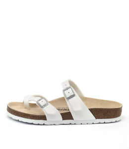 af50543313cb Image is loading New-Birkenstock-Mayari-White-Womens-Shoes-Casual-Sandals-