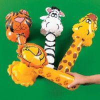 12 Safari Animal Inflatable Hammers 14 Assorted Styles