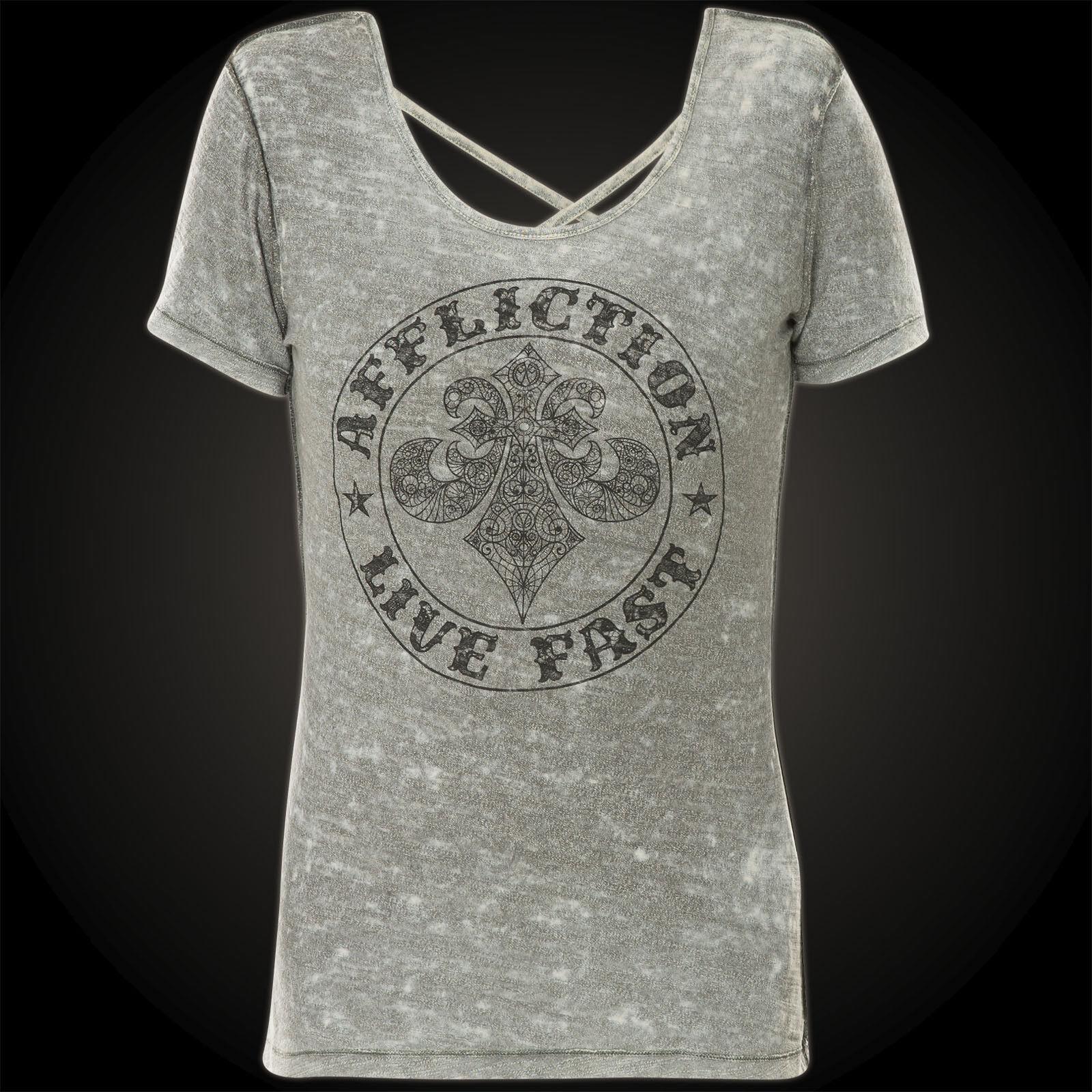 Affliction Donna T-shirt SPIKER Impact Rev. GRIGIO GRIGIO GRIGIO 292075