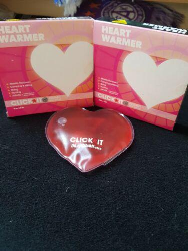 "Heart Shaped Instant Heat Hand Warmer Pocket Warmer 5/"" X 5/"" Reusable"